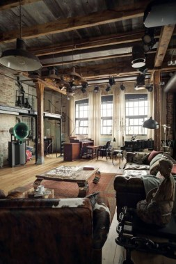 Perfect Industrial Style Loft Designs Ideas For Living Room 19