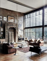 Perfect Industrial Style Loft Designs Ideas For Living Room 22