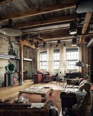 Perfect Industrial Style Loft Designs Ideas For Living Room 26