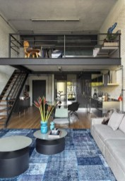 Perfect Industrial Style Loft Designs Ideas For Living Room 40
