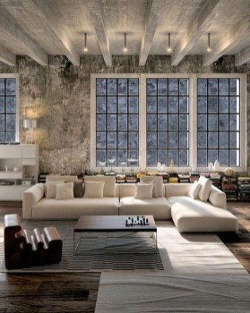 Perfect Industrial Style Loft Designs Ideas For Living Room 42