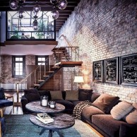 Perfect Industrial Style Loft Designs Ideas For Living Room 43