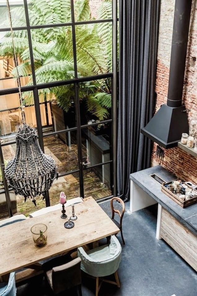 Perfect Industrial Style Loft Designs Ideas For Living Room 52