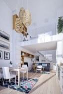 Relaxing Small Loft Bedroom Designs 16