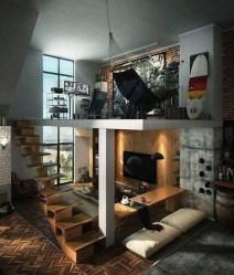 Relaxing Small Loft Bedroom Designs 18