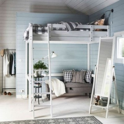 Relaxing Small Loft Bedroom Designs 19