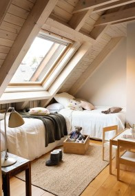 Relaxing Small Loft Bedroom Designs 22