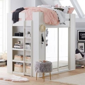 Relaxing Small Loft Bedroom Designs 34