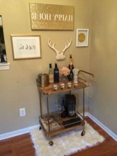Wonderful Apartment Coffee Bar Cart Ideas 14