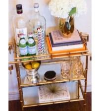 Wonderful Apartment Coffee Bar Cart Ideas 16