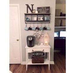 Wonderful Apartment Coffee Bar Cart Ideas 17