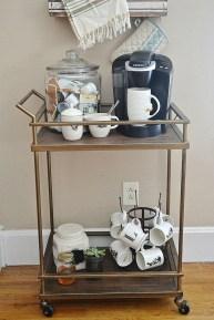Wonderful Apartment Coffee Bar Cart Ideas 46