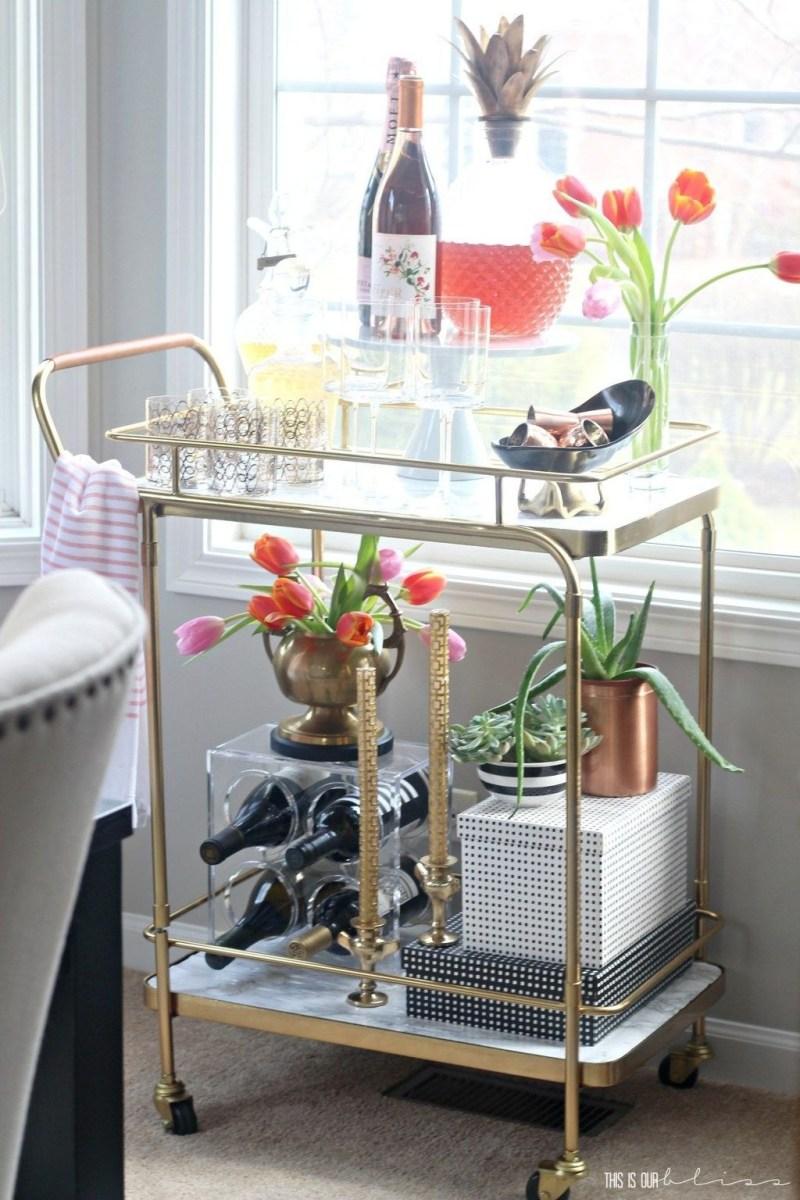 Wonderful Apartment Coffee Bar Cart Ideas 49