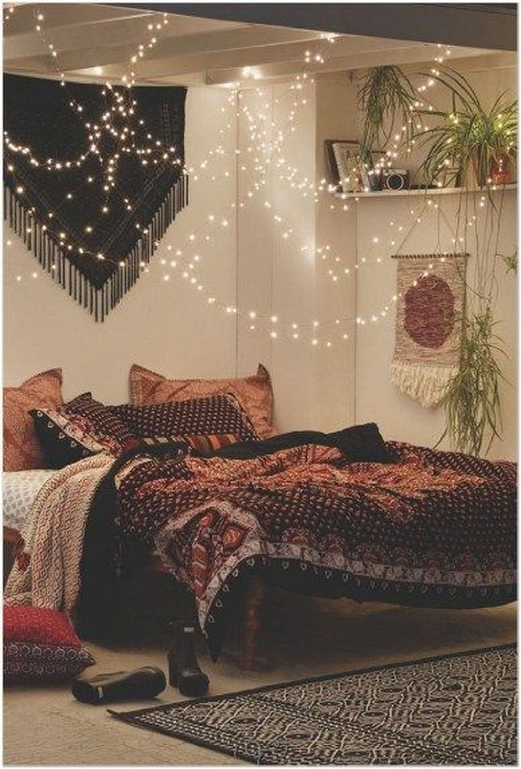 Wonderful Bohemian Design Decorating Ideas For Bedroom 49