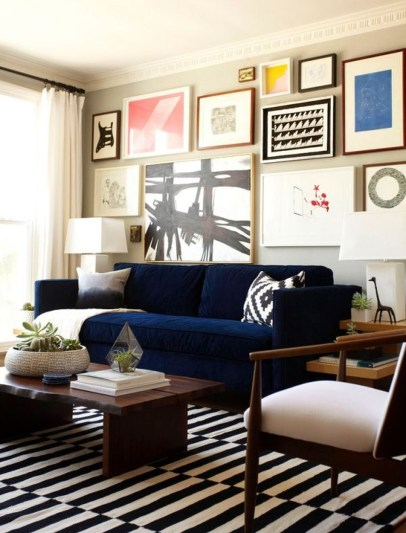 Catchy Living Room Designs Ideas With Bold Black Furniture 45