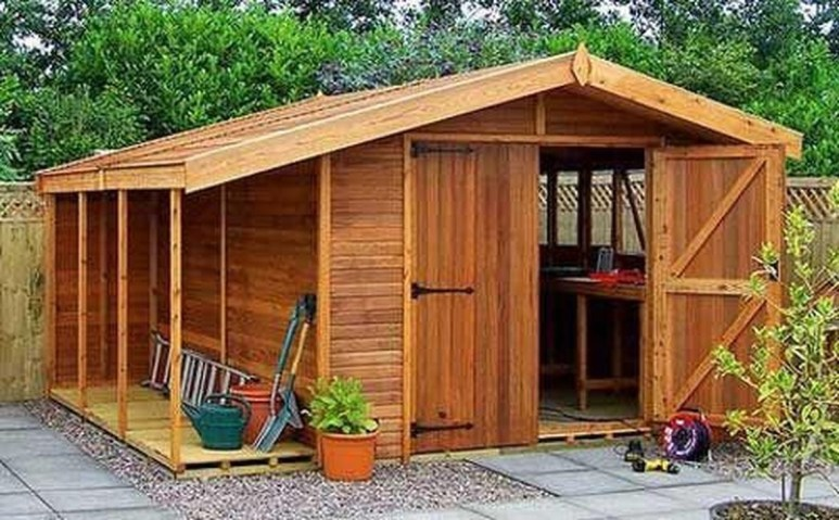 Cool Small Storage Shed Ideas For Garden 14