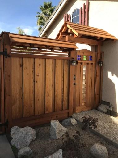 Cute Garden Fences Walls Ideas 44