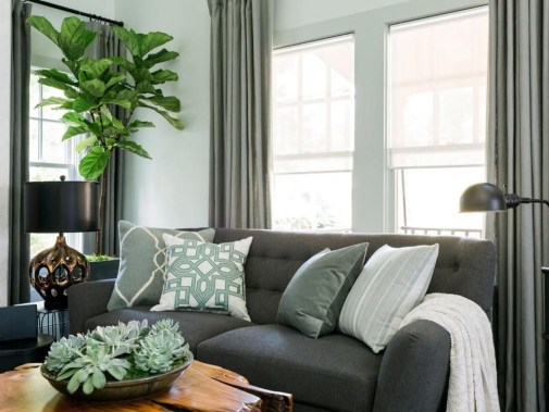Enchanting Living Rooms Ideas With Combinations Of Grey Green 04