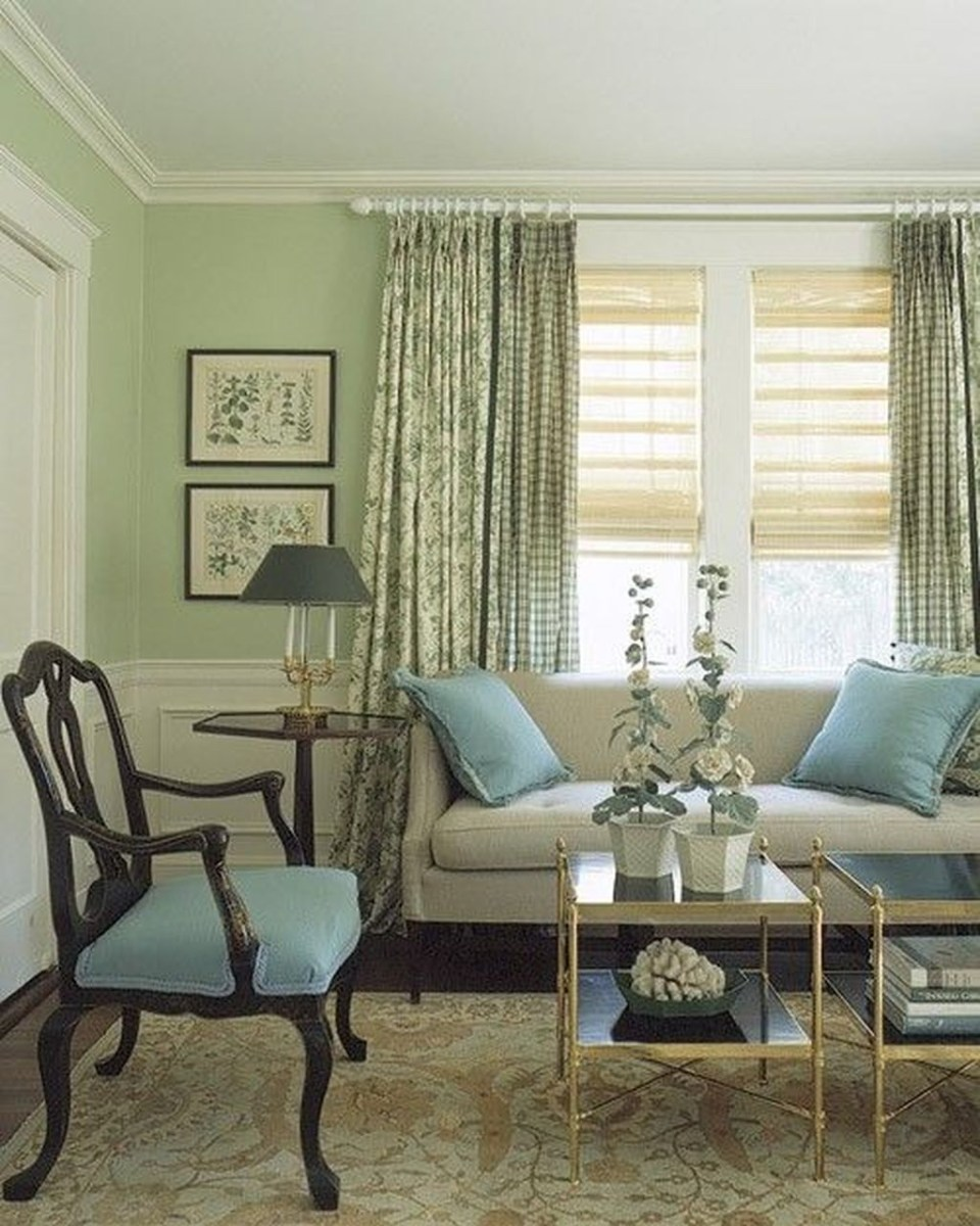 Enchanting Living Rooms Ideas With Combinations Of Grey Green 06