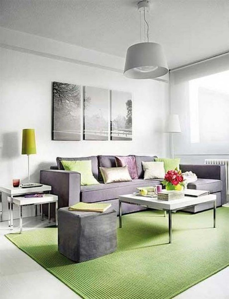 Enchanting Living Rooms Ideas With Combinations Of Grey Green 16