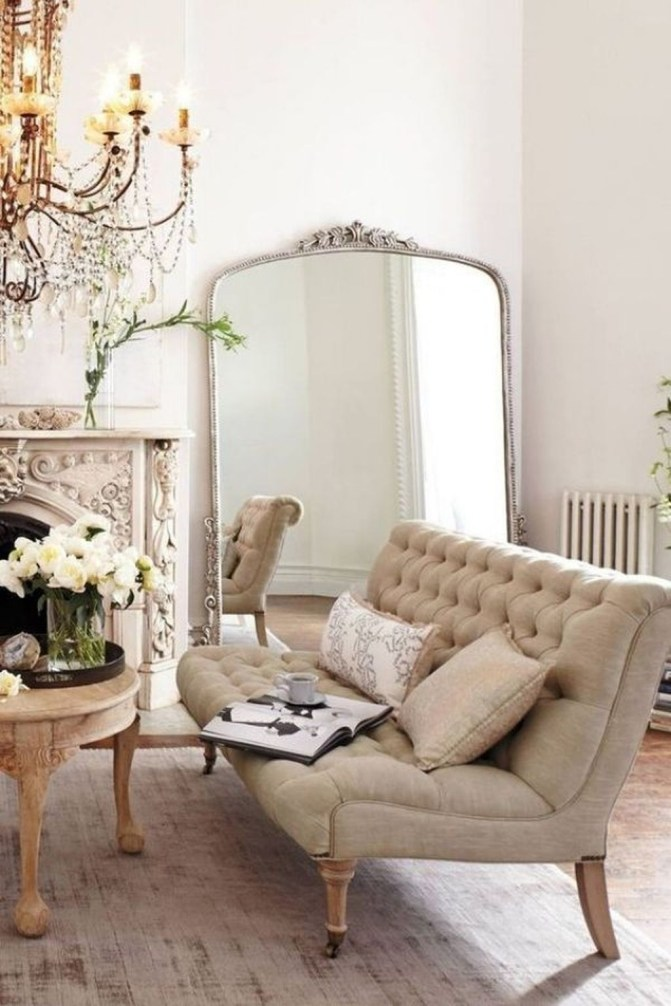 Impressive French Style Living Room Designs Ideas 40