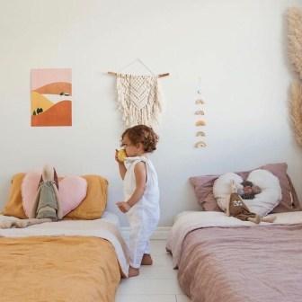 Inspiring Shared Kids Room Design Ideas 44
