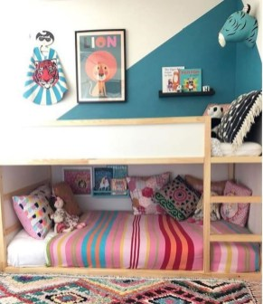 Inspiring Shared Kids Room Design Ideas 52