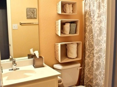 Luxury Towel Storage Ideas For Bathroom 16