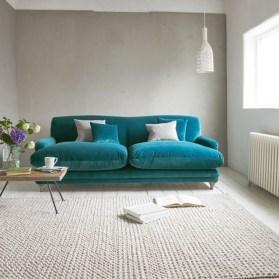 Popular Velvet Sofa Designs Ideas For Living Room 11