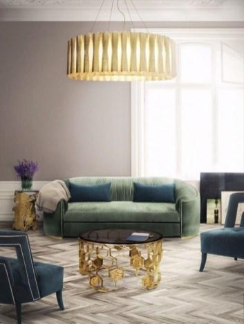 Popular Velvet Sofa Designs Ideas For Living Room 13
