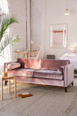 Popular Velvet Sofa Designs Ideas For Living Room 38