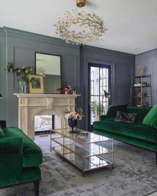 Popular Velvet Sofa Designs Ideas For Living Room 41