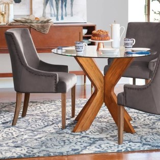 Striking Round Glass Table Designs Ideas For Dining Room 11