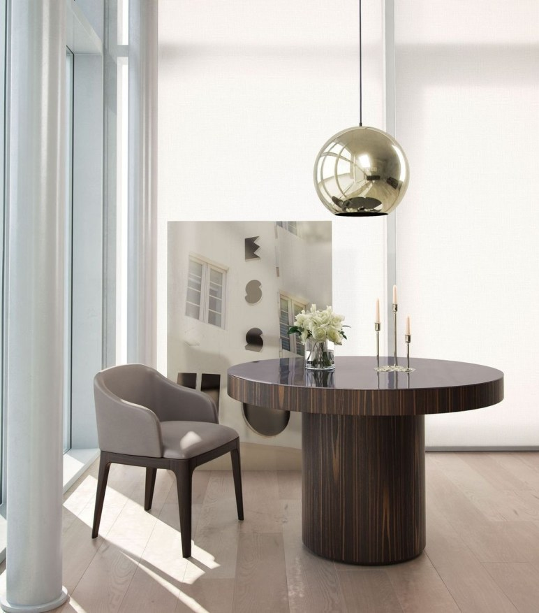 Striking Round Glass Table Designs Ideas For Dining Room 18