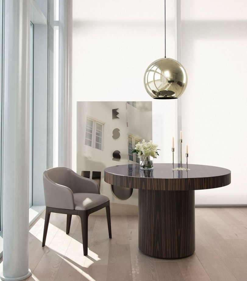 Striking Round Glass Table Designs Ideas For Dining Room 19