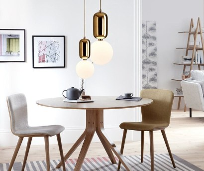 Striking Round Glass Table Designs Ideas For Dining Room 25