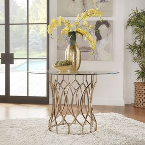 Striking Round Glass Table Designs Ideas For Dining Room 33