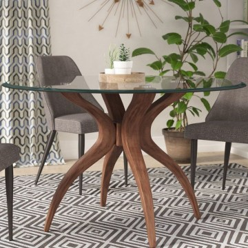 Striking Round Glass Table Designs Ideas For Dining Room 46