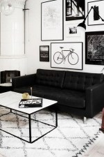 Catchy Living Room Designs Ideas With Bold Black Furniture 33