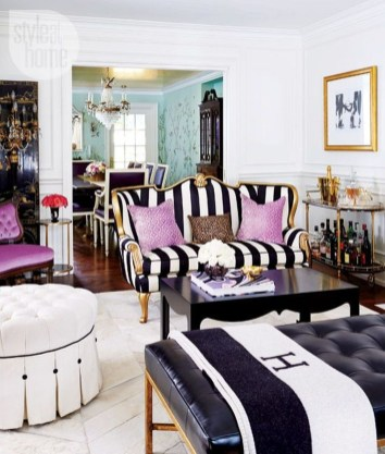 Catchy Living Room Designs Ideas With Bold Black Furniture 37