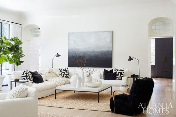 Catchy Living Room Designs Ideas With Bold Black Furniture 43