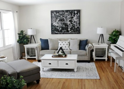 Catchy Living Room Designs Ideas With Bold Black Furniture 50