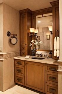Cozy Small Bathroom Ideas With Wooden Decor 31
