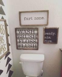 Cozy Small Bathroom Ideas With Wooden Decor 46