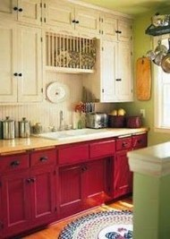 Creative Painted Kitchen Cabinets Design Ideas 06