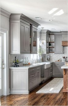 Creative Painted Kitchen Cabinets Design Ideas 16