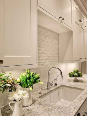 Creative Painted Kitchen Cabinets Design Ideas 35