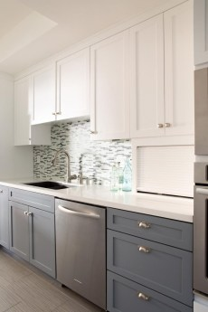 Creative Painted Kitchen Cabinets Design Ideas 40