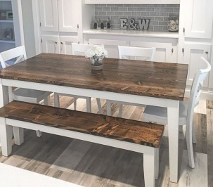 Cute Farmhouse Table Design Ideas Which Is Not Outdated 12