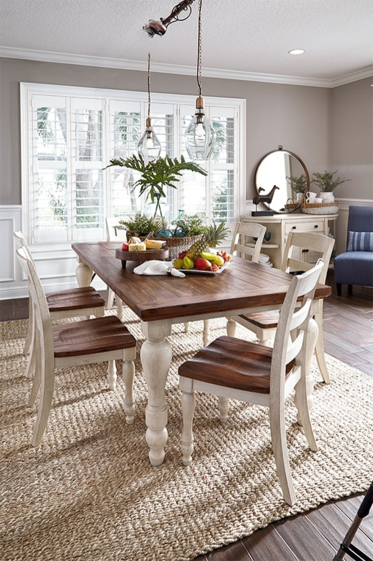 Cute Farmhouse Table Design Ideas Which Is Not Outdated 33